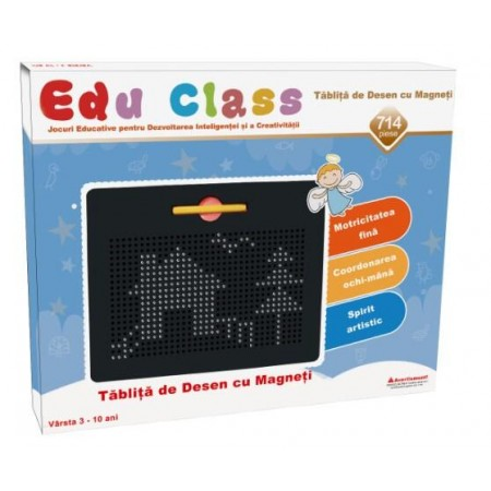 Tablita de desen cu magneti - 714 piese Edu Class.*