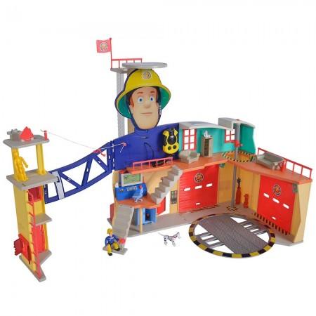 Jucarie Simba Statie de pompieri Fireman Sam, Sam Ultimate Firestation XXL cu figurina si accesorii*