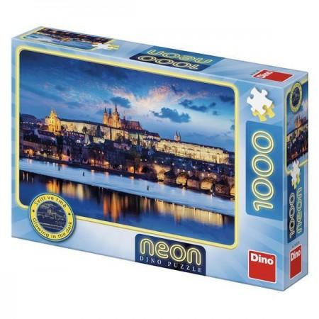 Puzzle Neon - Castelul Praga (1000 piese) Dino Toys.*