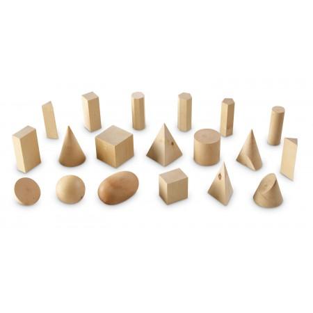 Forme geometrice din lemn (set 19) Learning Resources.*