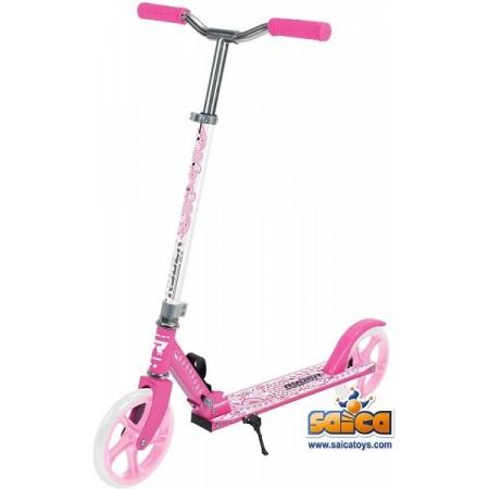 Trotineta pentru copii cu 2 roti Saica 200 mm roz cu alb*