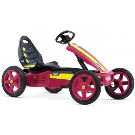 Kart copii cu pedale, volan sport, spoiler, scaun reglabil, volan ajustabil, BERG Rally Pearl