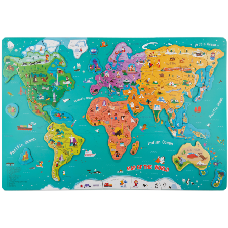 Puzzle magnetic - Harta lumii Topbright.*