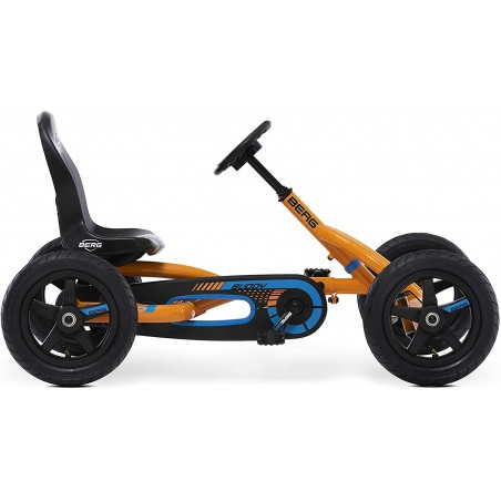 Kart copii cu pedale, scaun ajustabil, Berg Buddy portocaliu