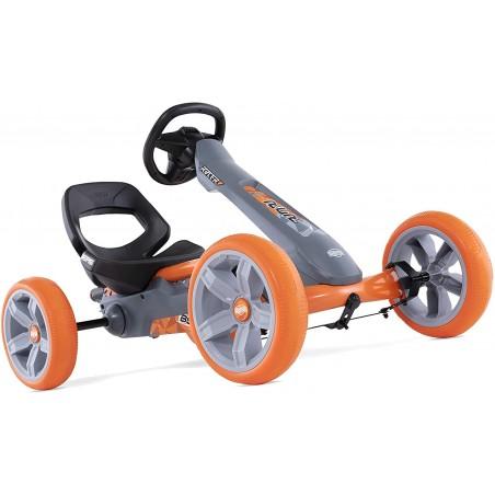 Kart copii cu pedale, volan cu Soundboz reglabil, scaun ajustabil, roti EVA, Berg Reppy Racer