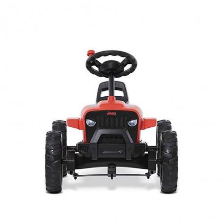 Kart copii cu pedale, rosu, scaun ajustabil, volan reglabil, Berg Jeep Buzzy Rubicon