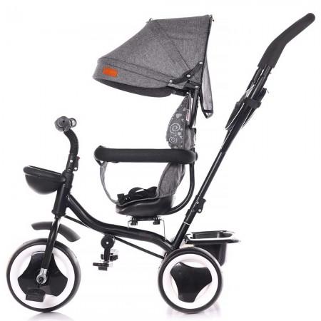 Tricicleta, sezut rotativ, maner, copertina si bara de siguranta detasabile, Chipolino Jazz, Graphite