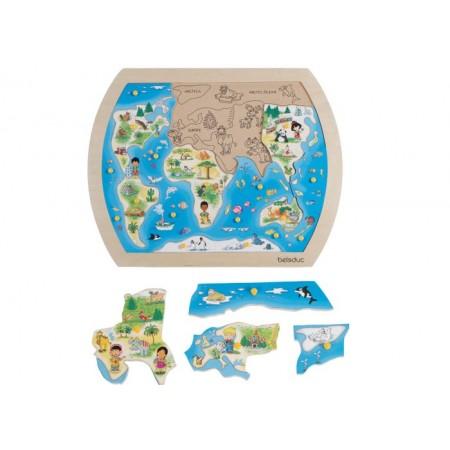 Puzzle din lemn O lume intreaga Beleduc