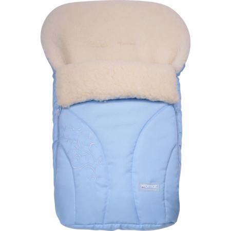 Sac de iarna Snowflake N25 din lana oaie Womar Zaffiro AN-SW-25, albastru deschis*