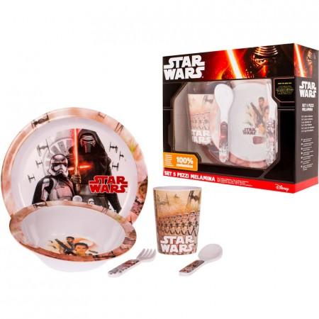 Set pentru masa melamina 5 piese Star Wars Lulabi 8340300*