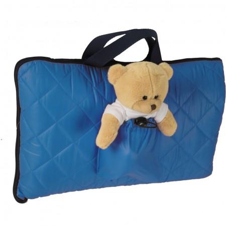 Sac de dormit pentru calatorii cu ursulet de plus inclus Tuloko TL004, albastru*