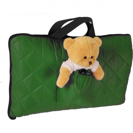 Sac de dormit pentru calatorii cu ursulet de plus inclus Tuloko TL004, verde*