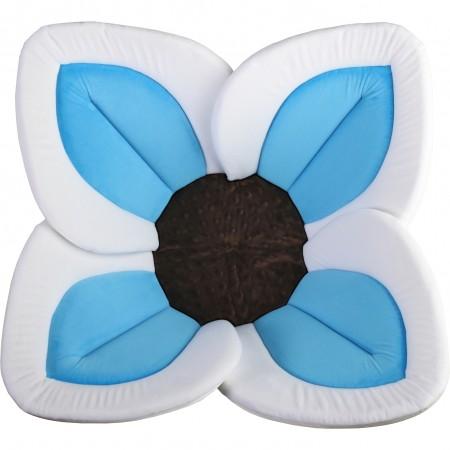 Cadita de plus si salteluta de joaca Lotus BloomingBath BB105L, alb/albastru/maro*