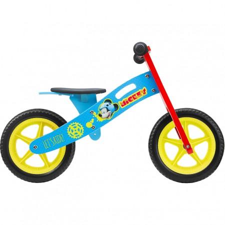 Bicicleta din lemn fara pedale 12 Mickey Seven SV9908*