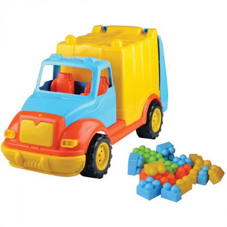 Camion pentru gunoi 48 cm cu 38 piese constructie Ucar Toys UC86*