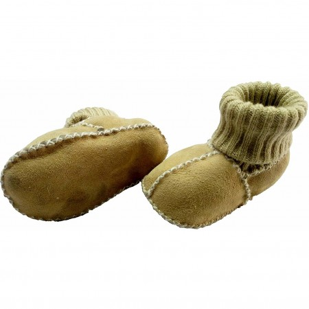 Botosei din piele si blanita de miel cu mansete tricotate - Marime 20 Altabebe MT4033L-01, galben*