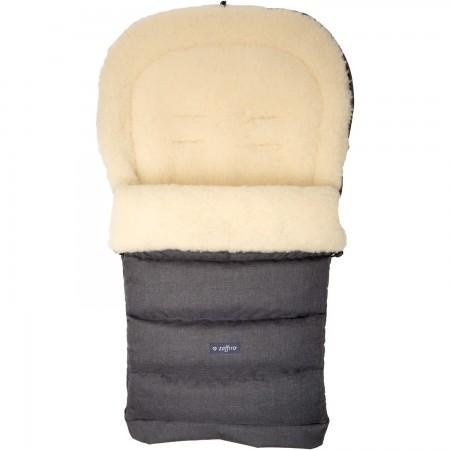 Sac de iarna iGrow Eco din lana oaie Womar Zaffiro 3Z-SW-20M, gri inchis*