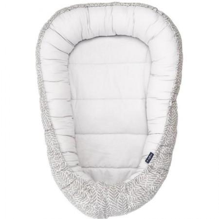 Protectie somn cu 2 fete Baby Nest  Womar Zaffiro AN-BN-02, grey leaves*