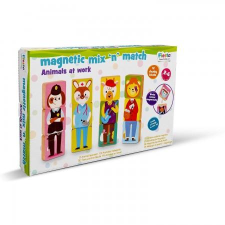 Set magnetic Amesteca si Potriveste - Animale si Profesii Fiesta Crafts FCT-2926*
