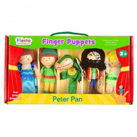 Set 5 Marionete pentru deget Peter Pan Fiesta Crafts FCT-2377*