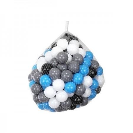 Set 200 Bile din Plastic Colorate Albastre-Negre, 7 cm Malatec MY2775, albastru*