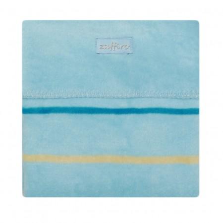 Paturica bebelusi Bumbac Linii 75x100 Womar Zaffiro AN-KBL-01, albastru*