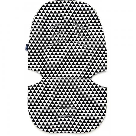 Perna pentru carucior N3 Bumbac Womar Zaffiro AN-PW-03B, negru/alb*