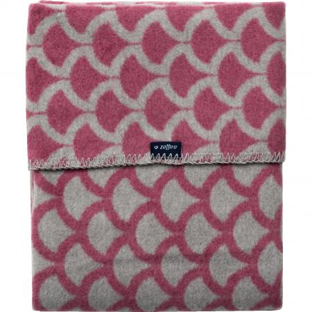 Paturica bebelusi Bumbac Semicerc 75x100 Womar Zaffiro AN-KBS-01, roz inchis/gri*
