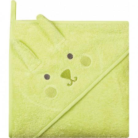 Prosop de baie cu gluga imprimeu animal 80 x 80 cm Womar Zaffiro AN-OZ-80, verde*