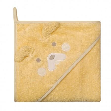 Prosop de baie cu gluga imprimeu animal 80 x 80 cm Womar Zaffiro AN-OZ-80, galben*