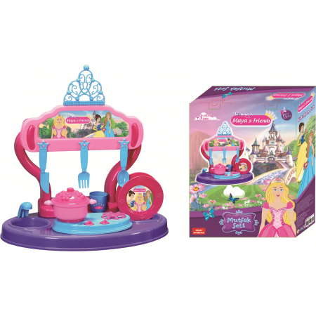 Bucatarie copii 15 piese Princess Maya and Friends Ucar Toys UC126*