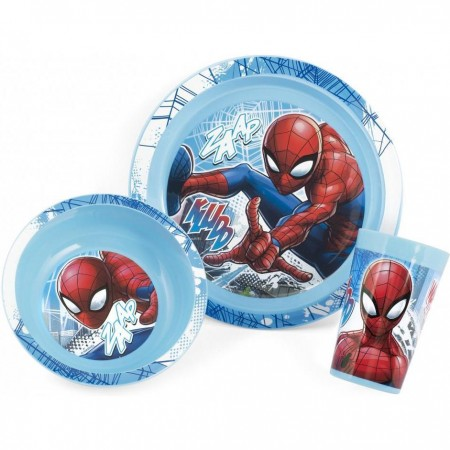 Set 3 piese Spider-Man  Lulabi 8310400, albastru*