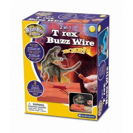 2 in 1 T Rex Buzz Wire Brainstorm Toys E2049*