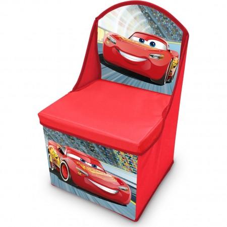 Scaun pliabil cu spatar si spatiu depozitare Cars   SunCity CAE402546, rosu*