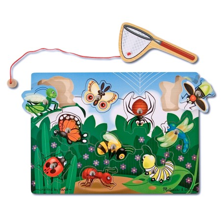 Joc din lemn magnetic Prinde insectele Melissa and Doug