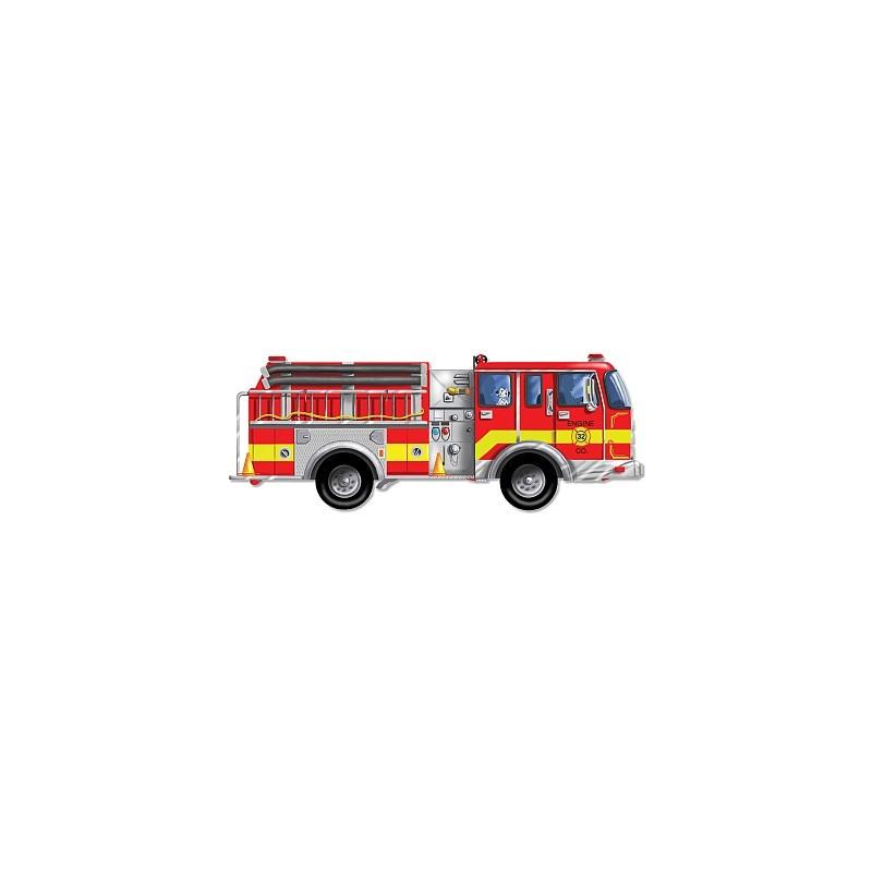 Puzzle de podea gigant Masina de pompieri Melissa and Doug