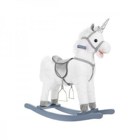 Balansoar Unicorn Alb, interactiv, 74 cm Kruzzel MY6595*