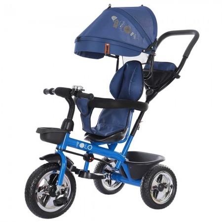 Tricicleta copii sezut rotativ Chipolino Polo albastru denim