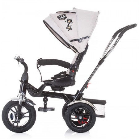 Tricicleta copii cu sezut reversibil, copertina detasabila, Chipolino Arena bej
