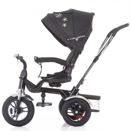 Tricicleta copii cu sezut reversibil, suport picioare reglabil, pliabil, Chipolino Arena graphite