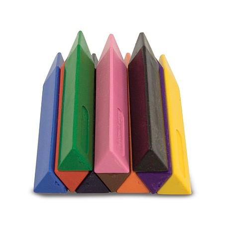 Set 10 creioane groase trunghiulare Melissa and Doug