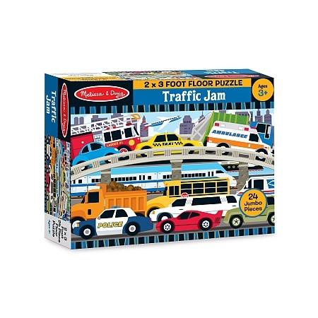 Puzzle de podea Blocaj in trafic Melissa and Doug