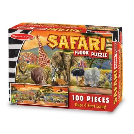 Puzzle de podea Safari Melissa and Doug 100 piese
