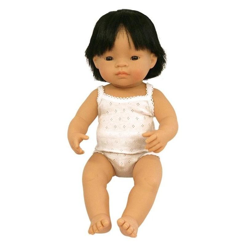 Papusa baiat asiatic Miniland 38 cm