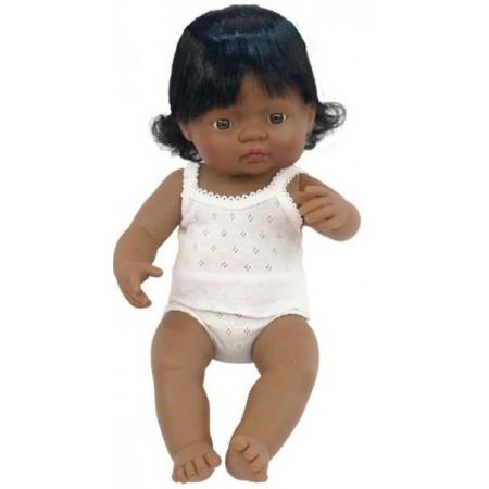 Papusa Baby hispanic fata Miniland  38 cm