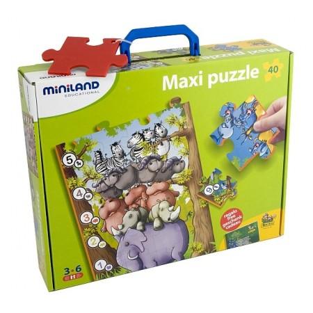 Puzzle de podea educativ cu numere Miniland 40 piese - Miniland