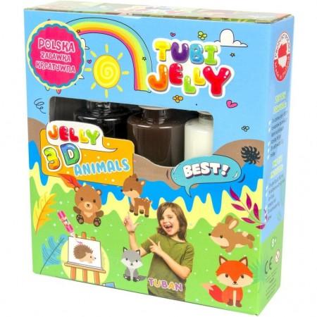 Set Tubi Jelly cu 3 culori - Animale Tuban TU3320*
