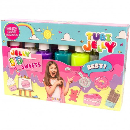Set Tubi Jelly cu 6 culori - Dulciuri Tuban TU3323*