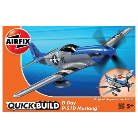 Kit cosntructie Airfix Quick Build Avion D-Day P-51D Mustang*