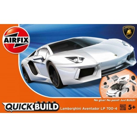 Kit constructie Airfix QUICK BUILD Lamborghini Aventador White*